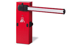 BFT MOOVI 120V and 24V Barrier Arm available with 10ft OR 16 ft arms