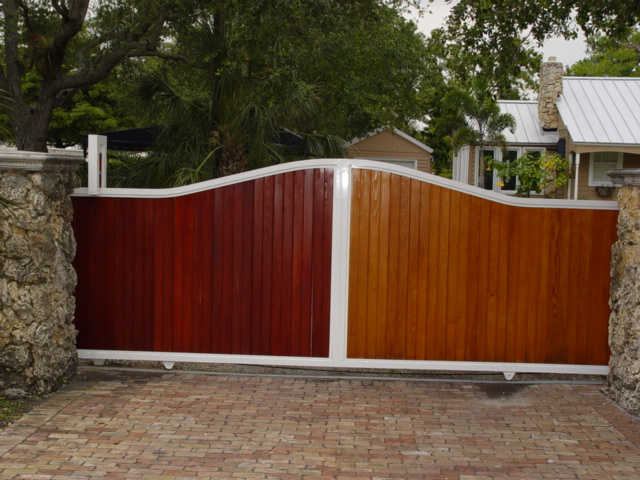 Wood And Metal Privacy Fence