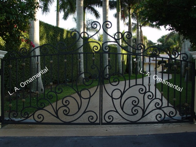 Automatic Driveway Gates Automatic Aluminum Wrought Iron