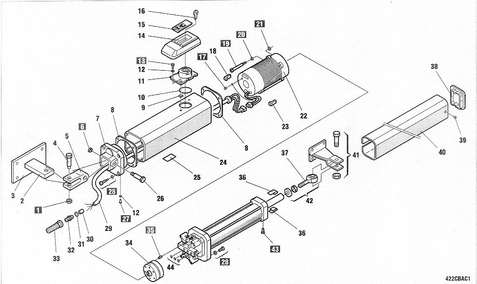 Faac gate operator repair parts swing operators