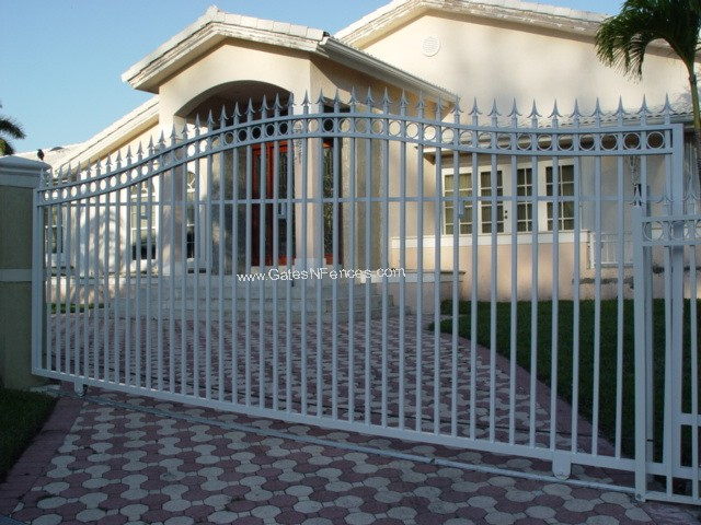 Wrought Iron Gate Driveway Outdoor Aluminum Or Wrought