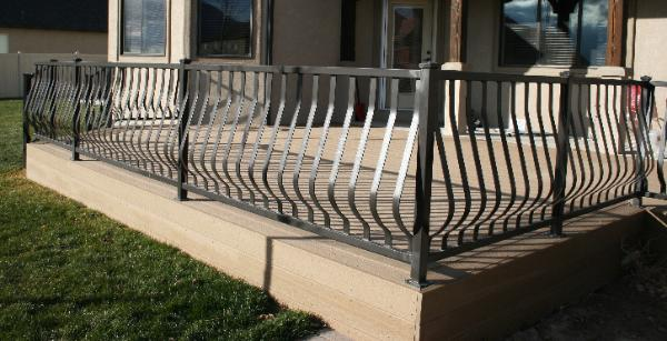 Custom railings decorative railings porch balcony Decorative railings