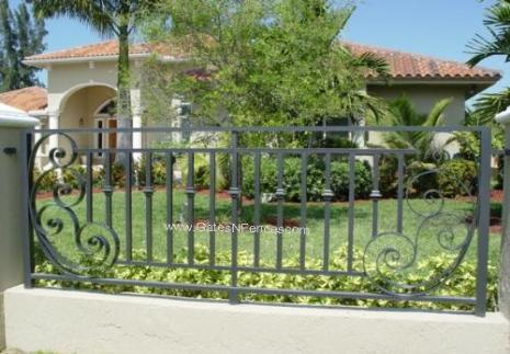 Aluminum fence ideas ideal aluminum fence decorative for Decorative fence ideas