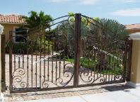 Decorative Wrought Iron or Aluminum Driveway Gates - Decorative Garden or Fence Decorative Driveway Entry Gates