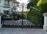 Iron Estate Entry Gates | Aluminum Metal Estate Entrance Gates