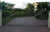 Wrought Iron Custom Entry Driveway Design Gates | Aluminum Design Iron Driveway Gate Design