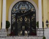 Custom Front Entrance Gates with matching Hand Rails and Gate Openers