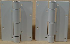 Pair Of Aluminum Spring Load Automatic Gate Hinges