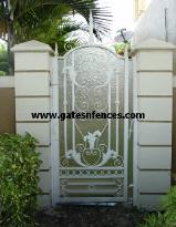 Privacy backing on matching Garden gate