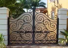 Security Gates with Privay Panel, add Safety Privacy Backing for more Security