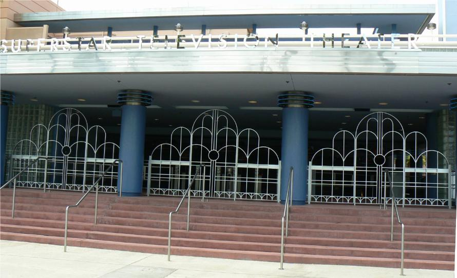 See our work at the Disney's Hollywood Studios 3 Main Entrance each with 2 gates and stationary center panel
