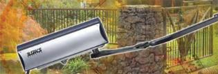 The Model 6004 swing gate column offers convenience and reliability in a compact design