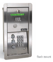 Doorking 1802 EPD Access Control Entry System - Doorking 1802 EPD Telephone Entry Systems Flush Mount