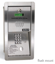 Doorking 1802 Access Control Entry System - Doorking 1802 Telephone Entry Systems Flush Mount