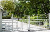 California Modern: Iron California Modern Style Gate California Aluminum Driveway Gate Metal California Design Gate
