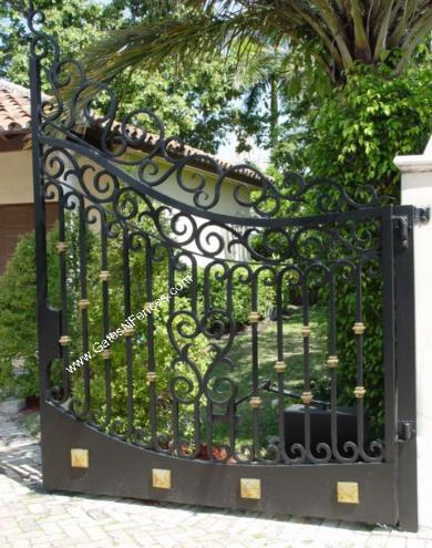 Driveway Gates Aluminum Wrought Iron Electric Automatic