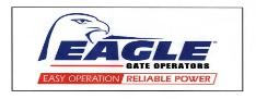 This Eagle 2 Swing Gate up to 14ft and 400lb 1/2hp Quality you can Trust from Eagle Access Control System