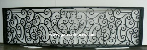 Iron Railings Designs - Aluminum Balcony Railings - Metal Rail Designs, elegant serenity design on a larger balcony railing