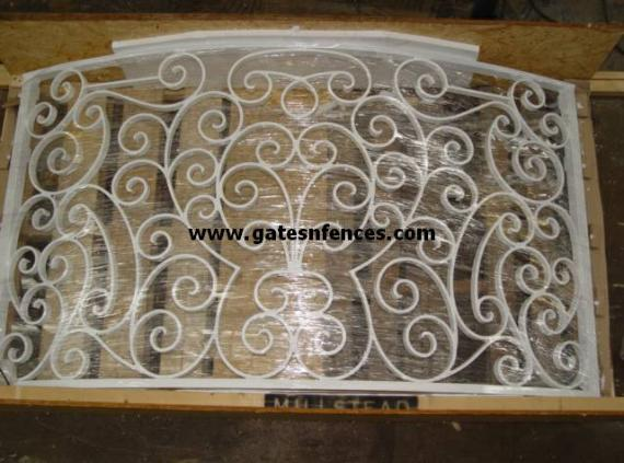 Custom Railings Metal Railing Design Ready to ship - inside the crate in white