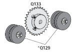 Q129 Idler Gear Sprocket Robo Slide