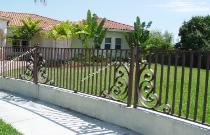 Fence Design Panels can be made from 4ft to 10ft wide, match with Garden Gates or Driveway