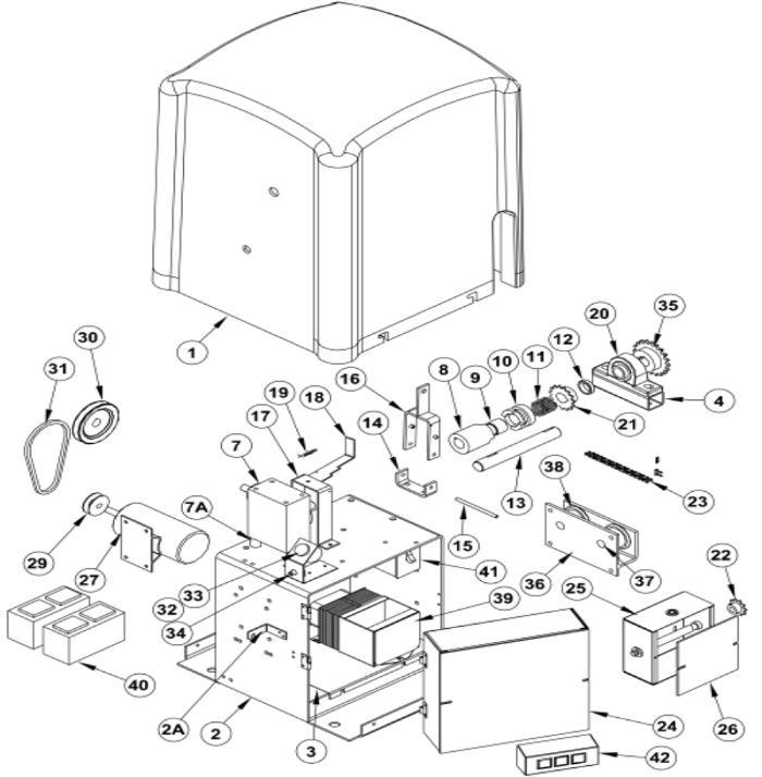osco gate operators repair parts