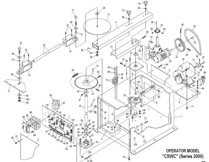 powermaster cswc swing gate operator repair parts