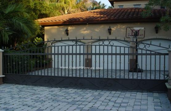 Steel Custom Entry Gate Steel Security Gate Steel