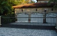 Steel Custom Entrance Driveway Gates | Steel Security Entry Gate - Aluminum or Wroguth Iron
