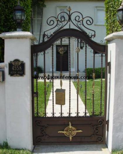 This Security Garden Gate Available For Driveway ( See It On The Driveway  Section )