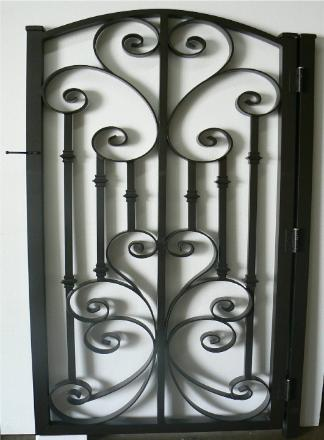 Decorative Garden Gate In The Same Design With Solid Color