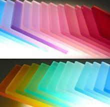 privacy panels in transparent colors - Plexiglas Color