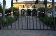 Driveway Entrance Custom Iron Gate | Aluminum or Wrought Iron Custom Ornamental Iron Gate