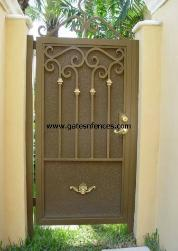Custom Decorative Garden Gate with Privacy Backing