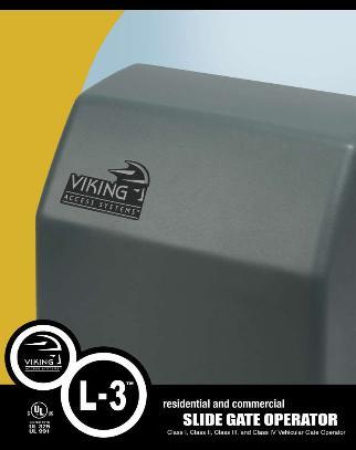Viking Commercial Slide Gate Operator High Traffic Gate Opener