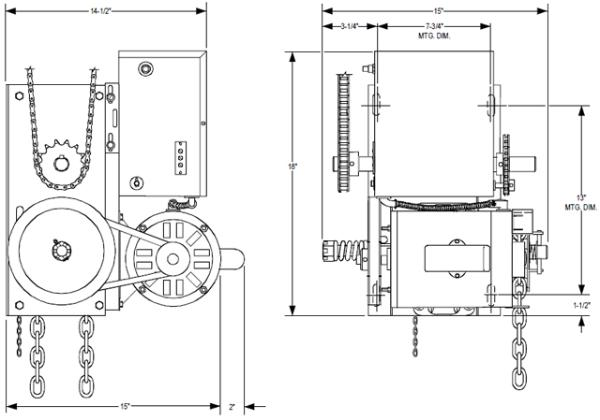 powermaster H overhead door operator exploded view 600x420 power master overhead doors operators powermaster over head door,Overhead Door Company Wiring Diagram
