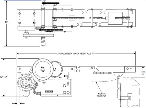 powermaster T overhead door operator exploded view 600x444 power master overhead door operator t model overhead crane wiring diagram pdf at n-0.co
